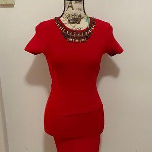 BCBGMAXAZRIA red dress size S